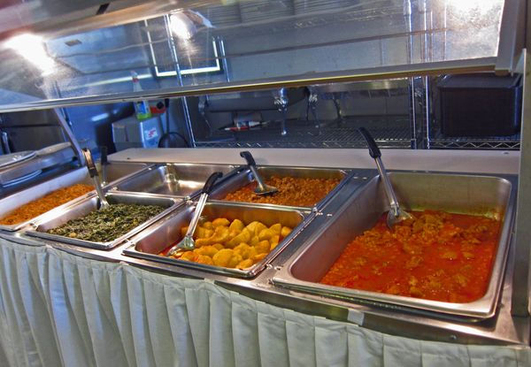 Mmmyoso Aria Kabob Cafe - Used buffet steam table for sale