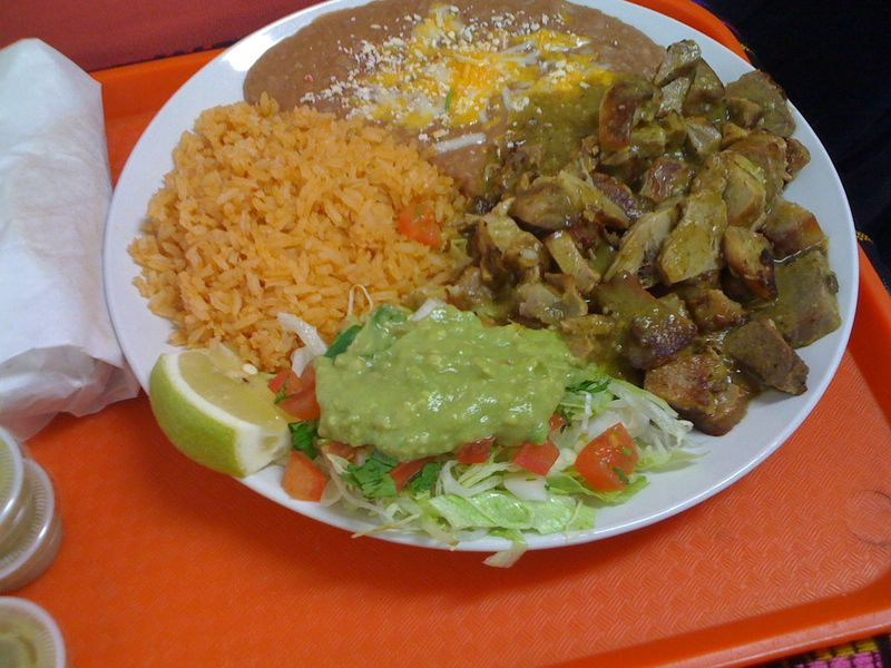 The chile verde plate ($7.59) also is substantial and topped with a ...