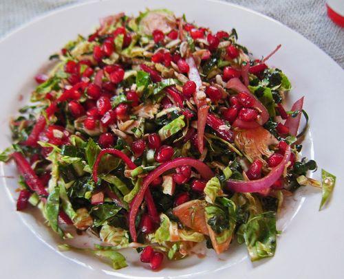 Shaved Kale Brussel Sprout Salad
