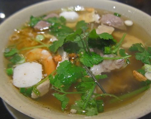 Combination Egg Noodle Soup