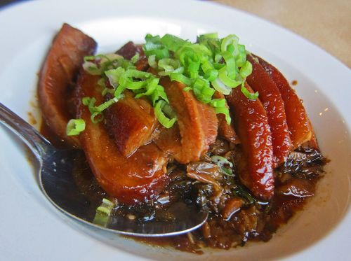 Golden City - steamed pork with preserved vegetable