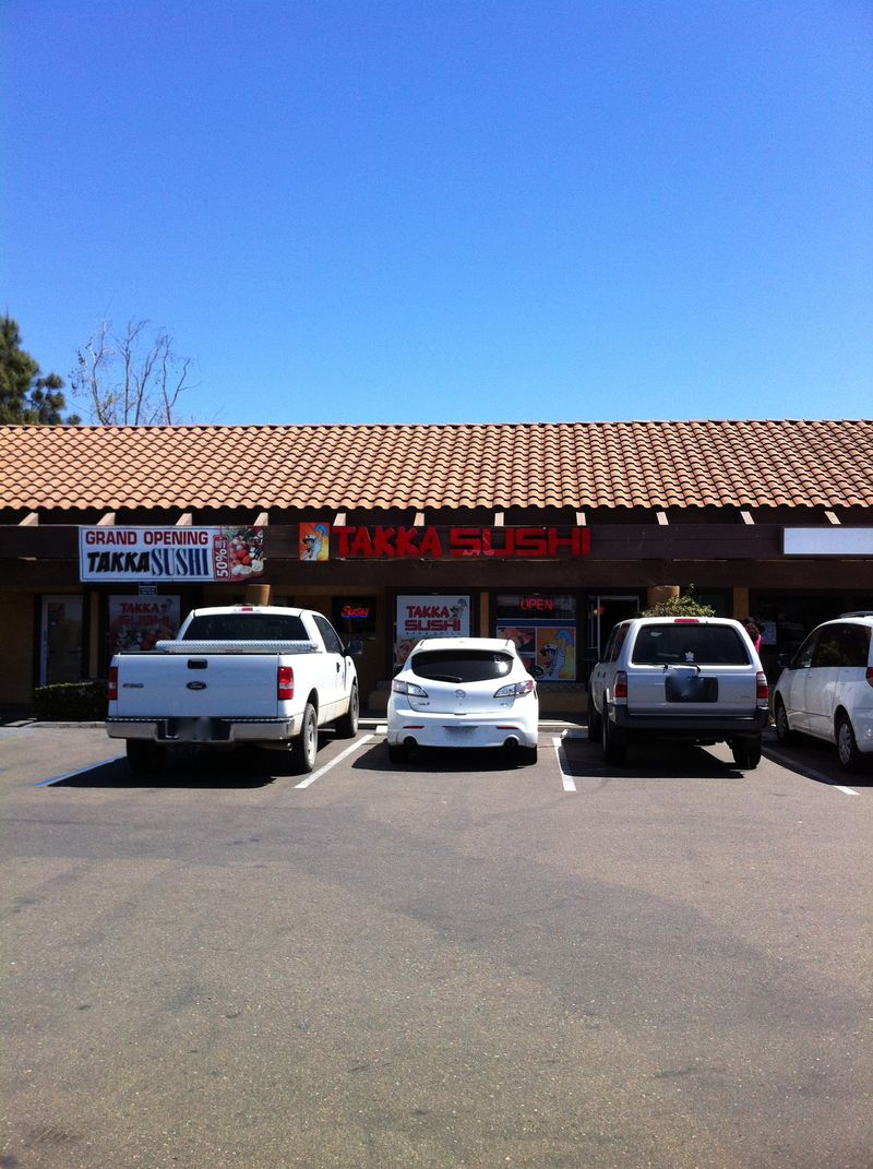 mmm yoso takka sushi bar grill santee located across the street from the post office this location is convenient for anyone who shops at the costco a block away you ll notice the signage