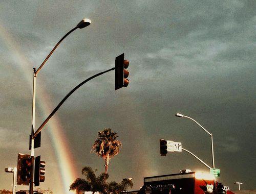 A rare San Diego double rainbow