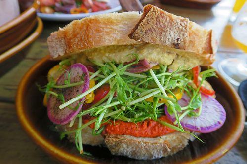 Pickled Squash Sandwich