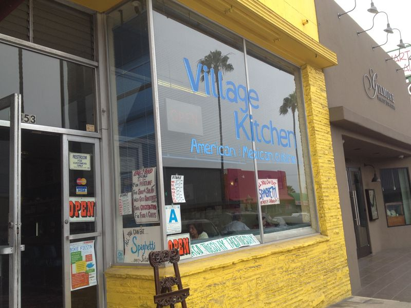 We Ended Up About Four Blocks From The Ocean On Newport Avenue Near Sunset  Cliffs Boulevard. This Bright Yellow Storefront Caught Our Eye.